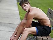 Cute college jock naked