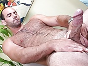 Hairy hunk with thick cock