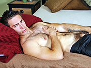 Straught, hairy stud Ramsey getting sucked