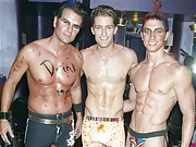 Matthew Morrison parties with his gay friends in just sexy boxer briefs