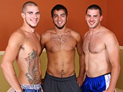 Curtis, Darius and Vander : Bareback TagTeam