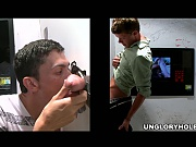 A mouthful of cum on this ungloryhole episode!