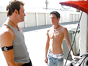 Amazing bib dick tristan gets his cock sucked in the car garage after his car broke down in these hot vids