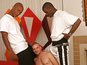 Gay white sucks & fucks 2 black dicks